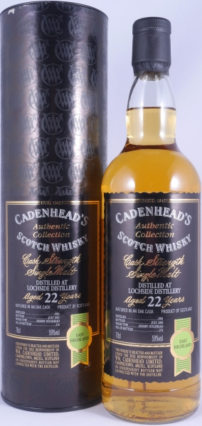 Lochside 1981 22 Years Sherry Hogshead Cadenhead Highland Single Malt Scotch Whisky Cask Strength 59.0%
