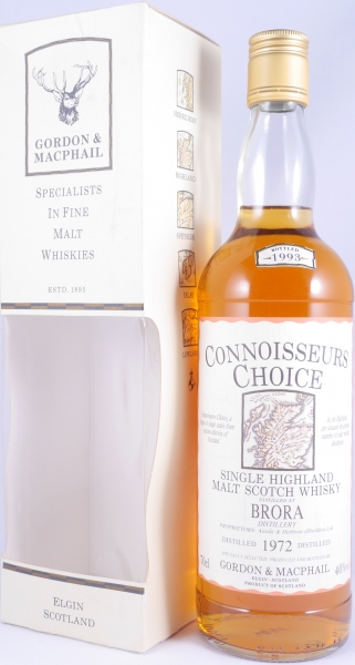 Brora 1972 21 Years Highland Single Malt Scotch Whisky Gordon and MacPhail Connoisseurs Choice Gold Screw Cap 40.0%