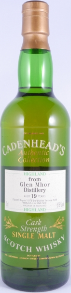 Glen Mhor 1976 19 Years Oak Cask Cadenhead Highland Single Malt Scotch Whisky Cask Strength 57,8%