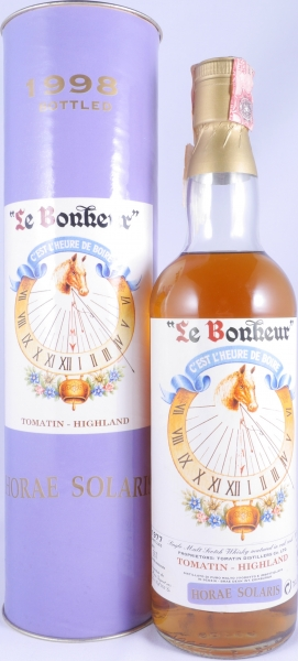 Tomatin 1977 21 Years Le Bonheur Horae Solaris Moon Import Highland Single Malt Scotch Whisky Cask Strength 56,0%