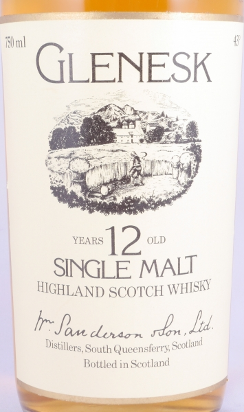 Glenesk 12 Years Highland Single Malt Scotch Whisky Black Screw Cap 43.0%