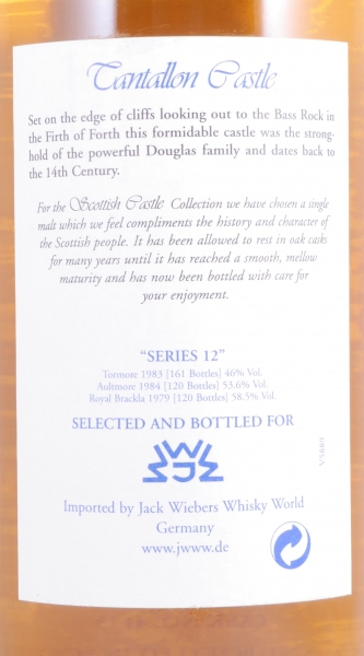 Royal Brackla 1979 25 Years Cask 4133 Jack Wiebers Scottish Castles Collection Highland Single Malt Scotch Whisky 58.5%