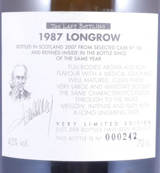 Longrow 1987 20 Years Cask 116 Samaroli The Last Bottling Campbeltown Single Malt Scotch Whisky 45,0%
