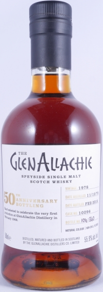 GlenAllachie 1978 39 Years Sherry Butt 10296 50th Anniversary Speyside Single Malt Scotch Whisky Cask Strength 55.9%